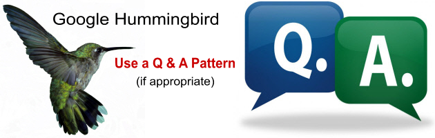 Google Hummingbird and SEO - Q & A Pattern