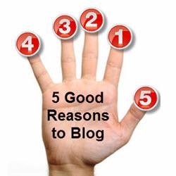 Five Reason to Blog