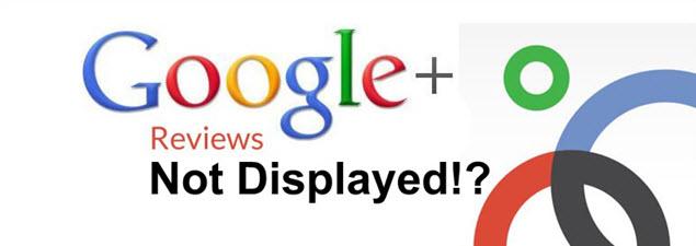 Google Reviews Don't Display