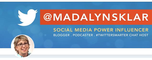 Twitter Header Graphic - Madalyn Sklar