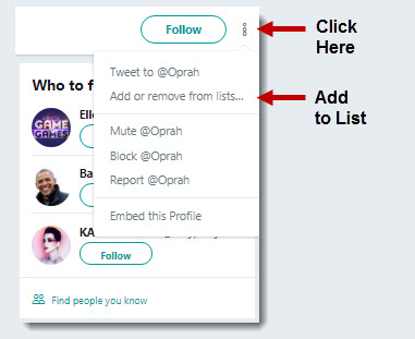 how to add twitter account on twitter